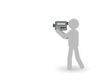 Videocámara stock de ilustración
