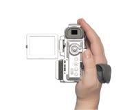 Videocámara de Digitaces aislada en el fondo blanco. imágenes de archivo libres de regalías
