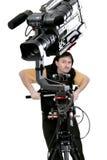 Videocámara en la grúa Imagen de archivo