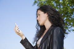 Videocalling in smartphone Stock Foto's