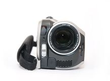 Videocamera. Frontview of a small webcam royalty free stock images