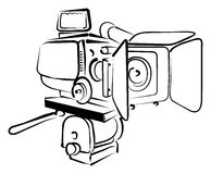 Videocamera stock illustratie
