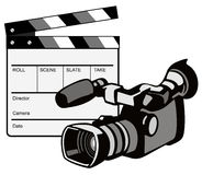 Videocamera con la valvola royalty illustrazione gratis