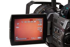 Videocamera con lo schermo immagine stock