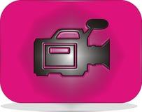 Videocamera dell'icona Immagine Stock