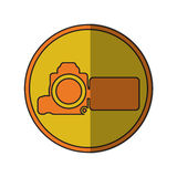videocamera device design. Videocamera device icon. Cinema movie video film and media theme.  design. Vector illustration Royalty Free Stock Images