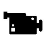 videocamera device design. Videocamera device icon. Cinema movie video film and media theme.  design. Vector illustration Royalty Free Stock Photography