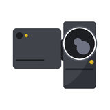 videocamera device design. Videocamera icon. Device gadget and technology theme.  design. Vector illustration Royalty Free Stock Image