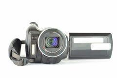 Videocamera di Digital dalla parte anteriore con lo schermo aperto Fotografie Stock Libere da Diritti