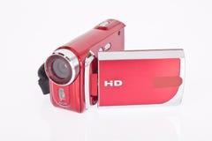 Videocamera di Digital isolata su un bianco fotografie stock libere da diritti