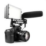 Videocamera di DSLR Immagine Stock