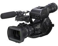 Videocamera di HD su priorità bassa bianca Fotografie Stock Libere da Diritti