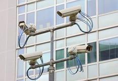 Videocamera di obbligazione di sorveglianza Immagine Stock Libera da Diritti