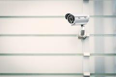 Videocamera di sicurezza Fotografia Stock