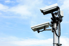 Videocamera di sicurezza Fotografie Stock Libere da Diritti