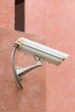Videocamera di sicurezza all'aperto Fotografie Stock Libere da Diritti