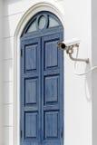 Videocamera di sicurezza bianca Immagini Stock