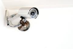 Videocamera di sicurezza, CCTV Immagini Stock