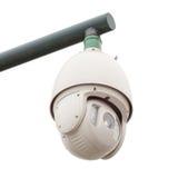 Videocamera di sicurezza, CCTV isolato da fondo bianco Fotografia Stock Libera da Diritti