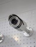 Videocamera di sicurezza del CCTV. Fotografia Stock