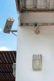 Videocamera di sicurezza del CCTV Immagini Stock Libere da Diritti