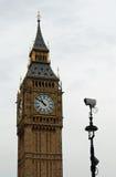 Videocamera di sicurezza del grande Ben Fotografie Stock