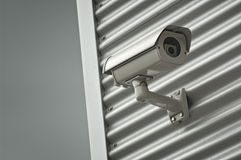 Videocamera di sicurezza di sorveglianza fotografie stock libere da diritti