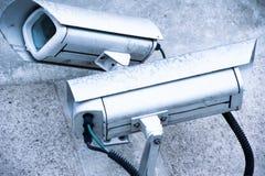 Videocamera di sicurezza e video urbano Immagini Stock Libere da Diritti