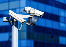 Videocamera di sicurezza e video urbano Immagine Stock
