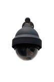 Videocamera di sicurezza isolata su bianco fotografie stock libere da diritti