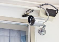 Videocamera di sicurezza nella casa Fotografia Stock Libera da Diritti