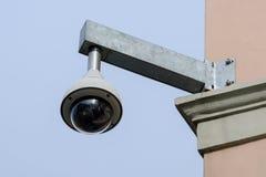 Videocamera di sicurezza sopraelevata di alta tecnologia Immagini Stock