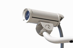 Videocamera di sicurezza su costruzione immagini stock libere da diritti