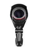 Videocamera di sicurezza su priorità bassa bianca Immagine Stock
