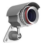 Videocamera di sicurezza su priorità bassa bianca. Isolato Immagini Stock