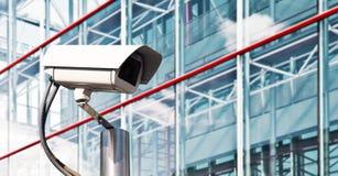 Videocamera di sicurezza in un ufficio moderno Immagini Stock