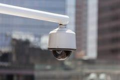 Videocamera di sicurezza urbana Fotografie Stock