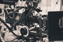 Videocamera digitale professionale Immagine Stock