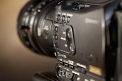 Videocamera digitale professionale. Fotografie Stock