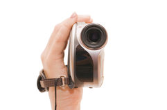 Videocamera in a female hand Stock Photos