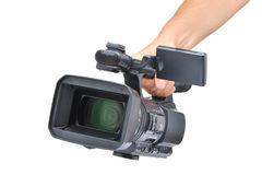 Videocamera in a hand stock photos
