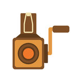 Videocamera icon. Retro Technology design. Vector graphic Stock Image