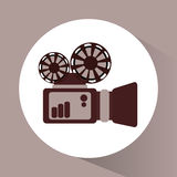 Videocamera and movie design. Videocamera icon. Cinema movie video and film theme. Vector illustration Royalty Free Stock Photo