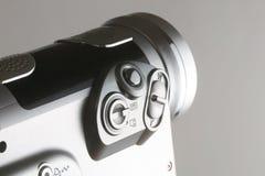 Videocamera op grijs Royalty-vrije Stock Foto's