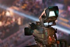 Videocamera in overleg Stock Afbeelding