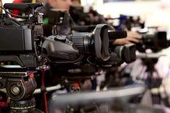 Videocamera per i professionisti Fotografia Stock