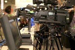 Videocamera per i professionisti Fotografia Stock Libera da Diritti