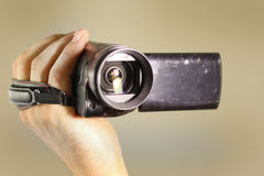 Videocamera portatile Fotografie Stock Libere da Diritti