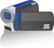 Videocamera portatile blu del hd di vettore Immagine Stock Libera da Diritti