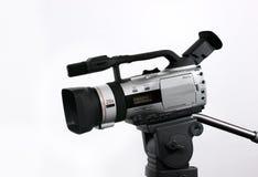 Videocamera portatile di DV sul treppiedi Immagine Stock